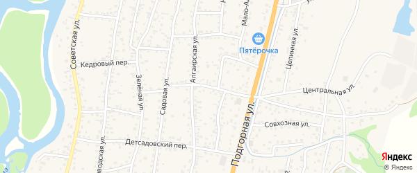 Чуйский переулок на карте села Майма Алтая с номерами домов