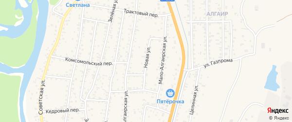 Новая улица на карте села Майма Алтая с номерами домов
