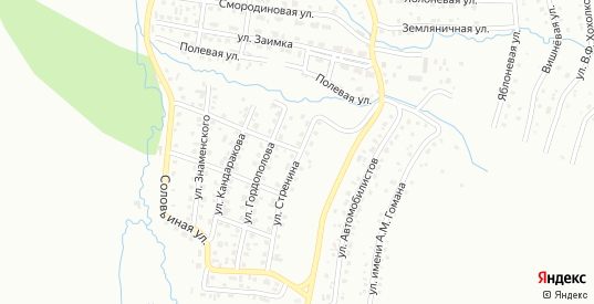 Улица имени Ф.М.Стренина в Горно-Алтайске с номерами домов на карте. Спутник и схема онлайн