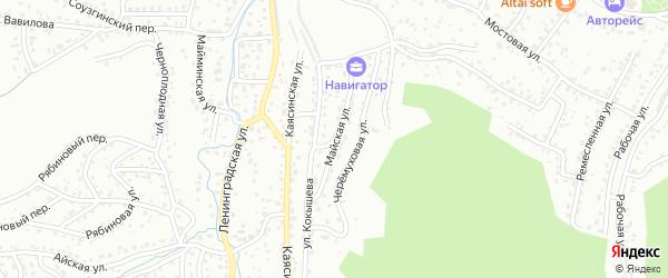 Майская улица на карте Горно-Алтайска с номерами домов