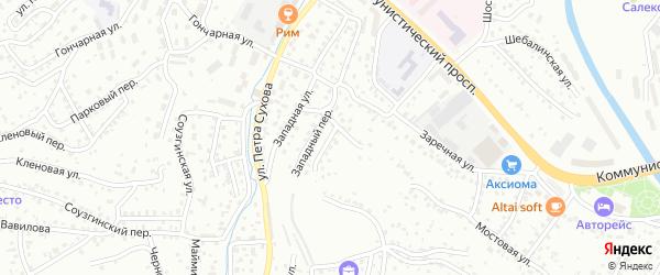 Крайний переулок на карте Горно-Алтайска с номерами домов