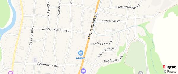 Подгорная улица на карте села Майма Алтая с номерами домов