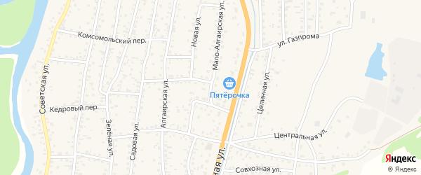 Мало-Алгаирская улица на карте села Майма Алтая с номерами домов