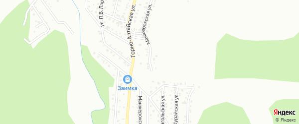 Манжерокская улица на карте Горно-Алтайска с номерами домов