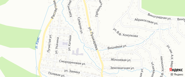 Улица Пушкарева на карте Горно-Алтайска с номерами домов