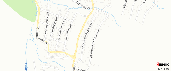 Улица Автомобилистов на карте Горно-Алтайска с номерами домов