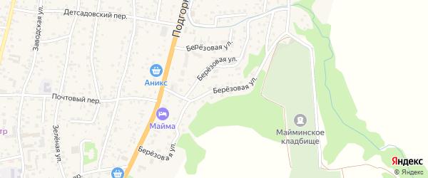 Березовая улица на карте села Майма Алтая с номерами домов