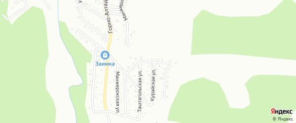 Урсульский переулок на карте Горно-Алтайска с номерами домов