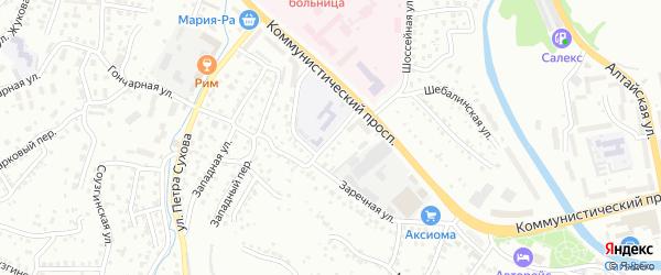 Улица Маресьева на карте Горно-Алтайска с номерами домов