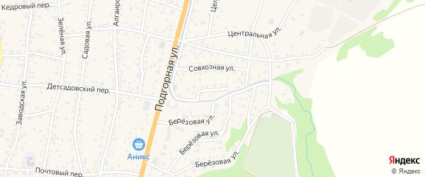 Ключевая улица на карте села Майма Алтая с номерами домов