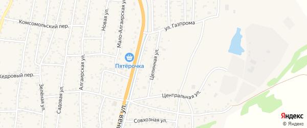 Целинная улица на карте села Майма Алтая с номерами домов
