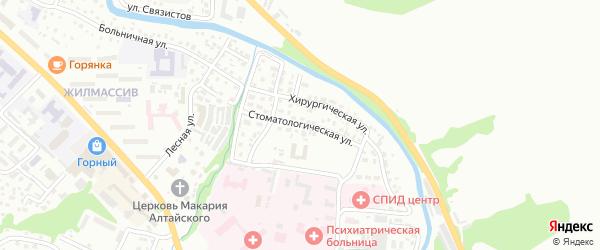Стоматологическая улица на карте Горно-Алтайска с номерами домов