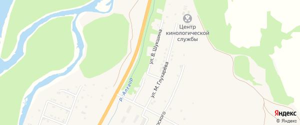 Улица В.Шукшина на карте села Майма Алтая с номерами домов