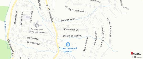 Яблоневая улица на карте Горно-Алтайска с номерами домов
