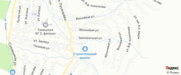 Земляничная улица на карте Горно-Алтайска с номерами домов