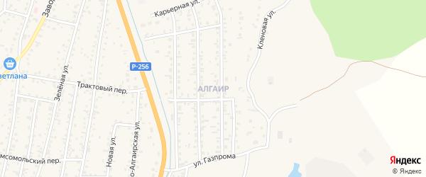 Квартал Жилмассив Алгаир на карте села Майма Алтая с номерами домов