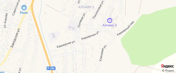 Карьерная улица на карте села Майма Алтая с номерами домов