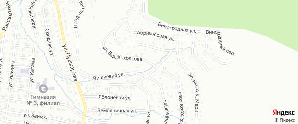 Улица В.Ф.Хохолкова на карте Горно-Алтайска с номерами домов