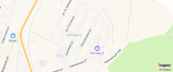 Поселковая улица на карте села Майма Алтая с номерами домов