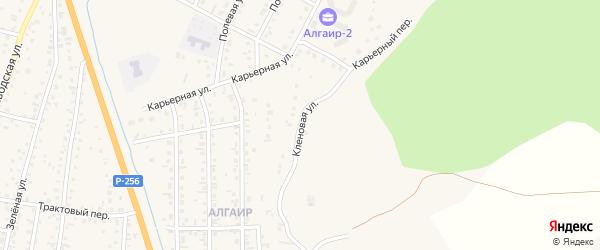 Кленовая улица на карте села Майма Алтая с номерами домов