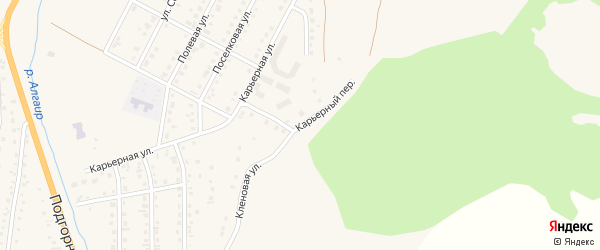 Карьерный переулок на карте села Майма Алтая с номерами домов