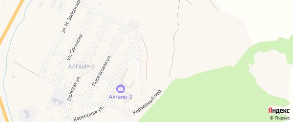 Песчаная улица на карте села Майма Алтая с номерами домов