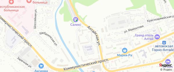 Алтайская улица на карте Горно-Алтайска с номерами домов