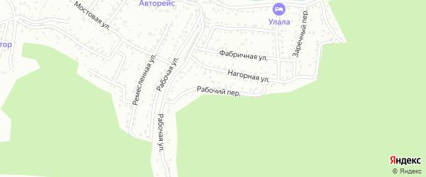 Рабочий переулок на карте Горно-Алтайска с номерами домов