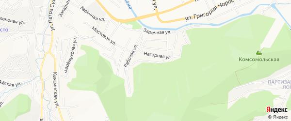 Рабочий ГСК на карте Горно-Алтайска с номерами домов