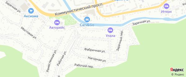 Улаганская улица на карте Горно-Алтайска с номерами домов