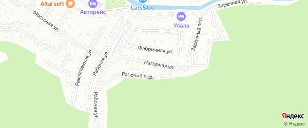 Нагорная улица на карте Горно-Алтайска с номерами домов