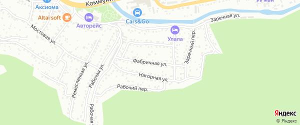 Фабричная улица на карте Горно-Алтайска с номерами домов