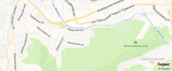 Заречный ГСК на карте Горно-Алтайска с номерами домов