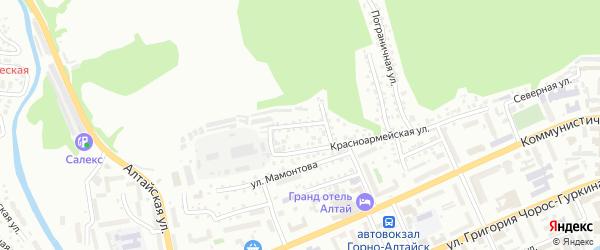 Улица Шуклина на карте Горно-Алтайска с номерами домов
