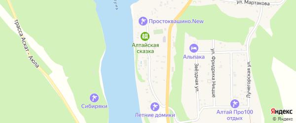 Новая улица на карте села Узнези Алтая с номерами домов