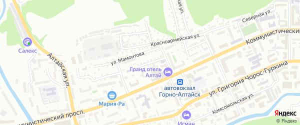 Улица Осипенко на карте Горно-Алтайска с номерами домов