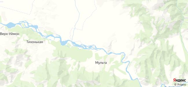 Нижний Уймон на карте