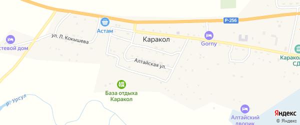 Алтайская улица на карте села Каракола Алтая с номерами домов