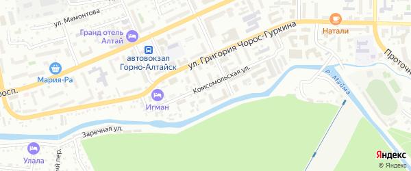 Комсомольская улица на карте Горно-Алтайска с номерами домов