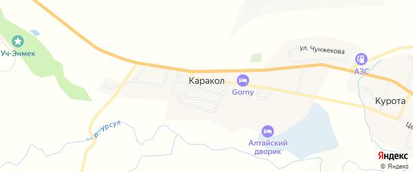 Карта села Каракола в Алтае с улицами и номерами домов