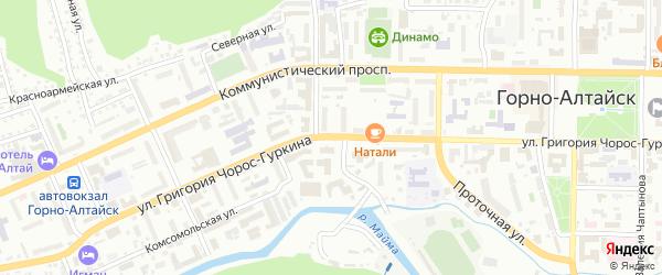 Улица имени Г.Д.Гордополова на карте Горно-Алтайска с номерами домов