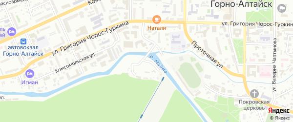 Улица Пионерский остров на карте Горно-Алтайска с номерами домов