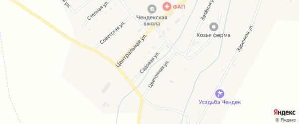 Садовая улица на карте села Чендека Алтая с номерами домов