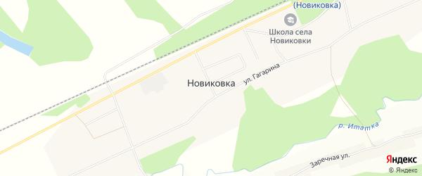Карта села Новиковки в Томской области с улицами и номерами домов