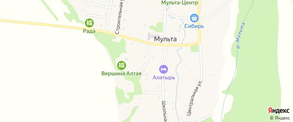 Лесная улица на карте села Мульты Алтая с номерами домов