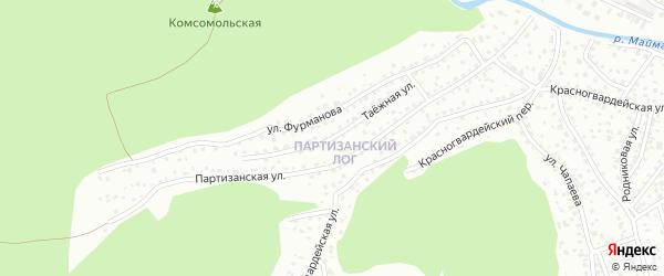 Таежная улица на карте Горно-Алтайска с номерами домов