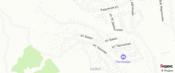 Улица Байат на карте Горно-Алтайска с номерами домов