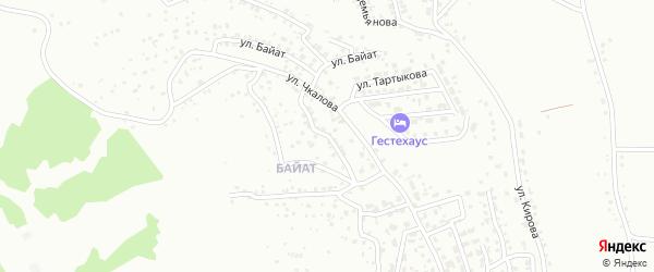 Пригородный переулок на карте Горно-Алтайска с номерами домов
