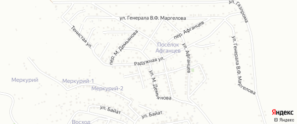 Радужная улица на карте Горно-Алтайска с номерами домов