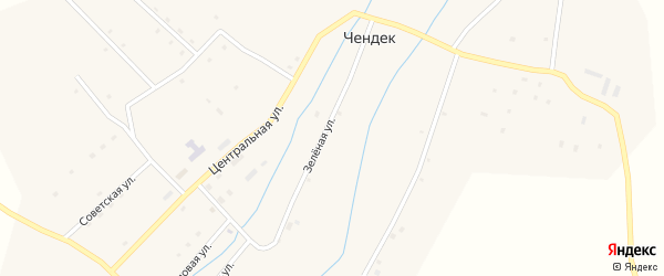 Солнечная улица на карте села Чендека Алтая с номерами домов